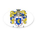 Ortiz Family Crest Oval Car Magnet