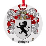 Owens Family Crest Round Ornament