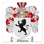 Owens Family Crest Square Car Magnet 3