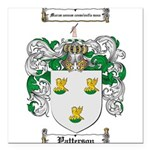 Patterson Family Crest Square Car Magnet 3