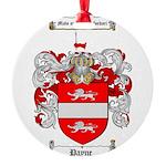 Payne Family Crest Round Ornament