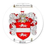 Payne Family Crest Round Car Magnet