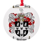 Peterson Family Crest Round Ornament