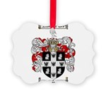 Peterson Family Crest Picture Ornament