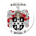 Peterson Family Crest Round Car Magnet