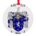 Poole Family Crest Round Ornament