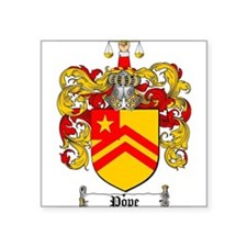 "Pope Family Crest Square Sticker 3"" x 3"""