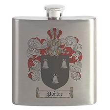 Porter Family Crest Flask