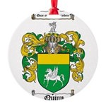 Quinn Family Crest Round Ornament