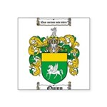 Quinn Family Crest Square Sticker 3