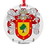Ramirez Family Crest Round Ornament
