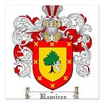 Ramirez Family Crest Square Car Magnet 3