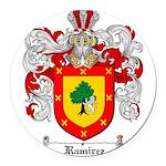 Ramirez Family Crest Round Car Magnet