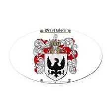 Ramsey Family Crest Oval Car Magnet
