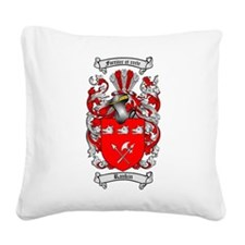 Rankin Family Crest Square Canvas Pillow