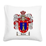 Reyes Coat of Arms Square Canvas Pillow