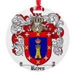 Reyes Coat of Arms Round Ornament