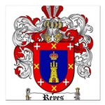 Reyes Coat of Arms Square Car Magnet 3