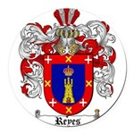 Reyes Coat of Arms Round Car Magnet