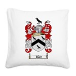 Rice Coat of Arms Square Canvas Pillow