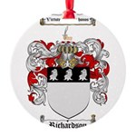 Richardson Coat of Arms Round Ornament