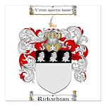 Richardson Coat of Arms Square Car Magnet 3