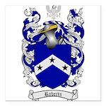 Roberts Coat of Arms Square Car Magnet 3