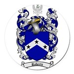 Roberts Coat of Arms Round Car Magnet