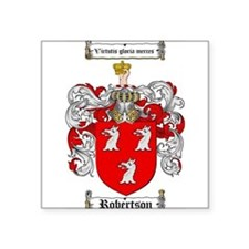 "Robertson Coat of Arms Square Sticker 3"" x 3"""