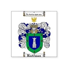 "Rodriguez Coat of Arms Square Sticker 3"" x 3"""