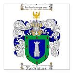 Rodriguez Coat of Arms Square Car Magnet 3