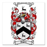 Rogers Coat of Arms Square Car Magnet 3