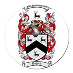 Rogers Coat of Arms Round Car Magnet