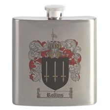 Rollins Family Crest Flask