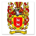 Romero Coat of Arms Square Car Magnet 3