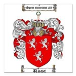 Ross Coat of Arms Square Car Magnet 3
