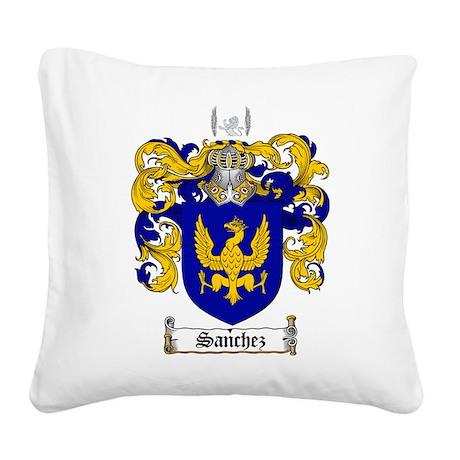 Sanchez Coat of Arms Square Canvas Pillow