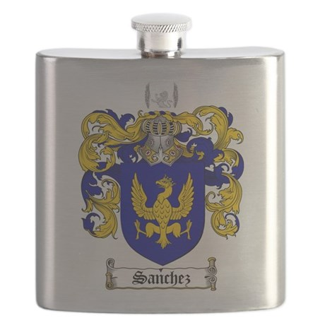 Sanchez Coat of Arms Flask