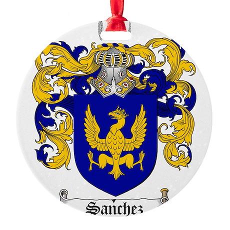 Sanchez Coat of Arms Round Ornament