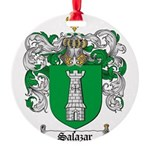 Salazar Coat of Arms Round Ornament