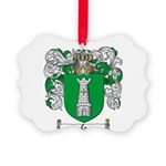 Salazar Coat of Arms Picture Ornament