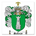 Salazar Coat of Arms Square Car Magnet 3