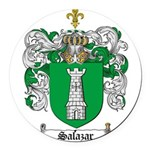 Salazar Coat of Arms Round Car Magnet