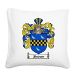Sawyer Coat of Arms Square Canvas Pillow