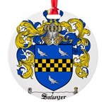 Sawyer Coat of Arms Round Ornament