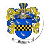 Sawyer Coat of Arms Round Car Magnet