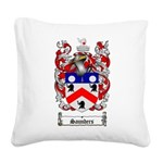 Saunders Coat of Arms Square Canvas Pillow