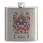 Saunders Coat of Arms Flask