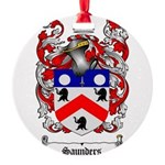 Saunders Coat of Arms Round Ornament