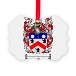 Saunders Coat of Arms Picture Ornament